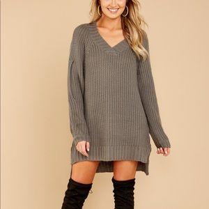 Hometown Girl Charcoal Grey Sweater